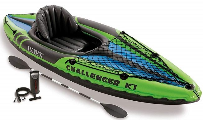 Intex Challenger K1 Kayak with Paddles and Pump