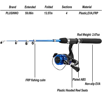 best telescopic rod reel combo kids